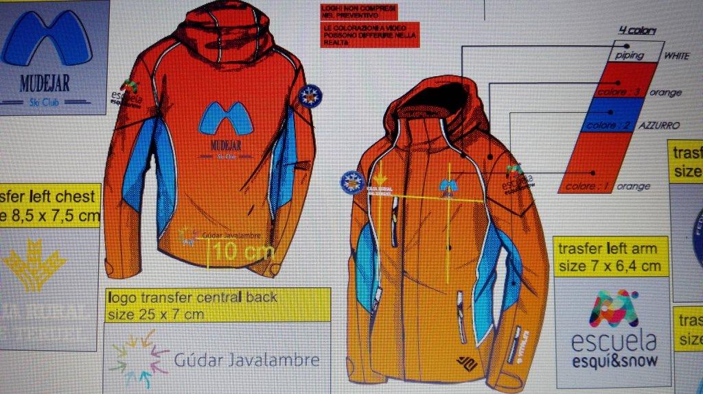 Oferta de trajes de esquí para los socios/as del  Mudéjar Esqui Club